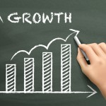 growth graph drawn by hand